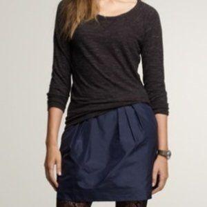 J Crew Marvelle Silk Tafetta Mini Skirt In Black